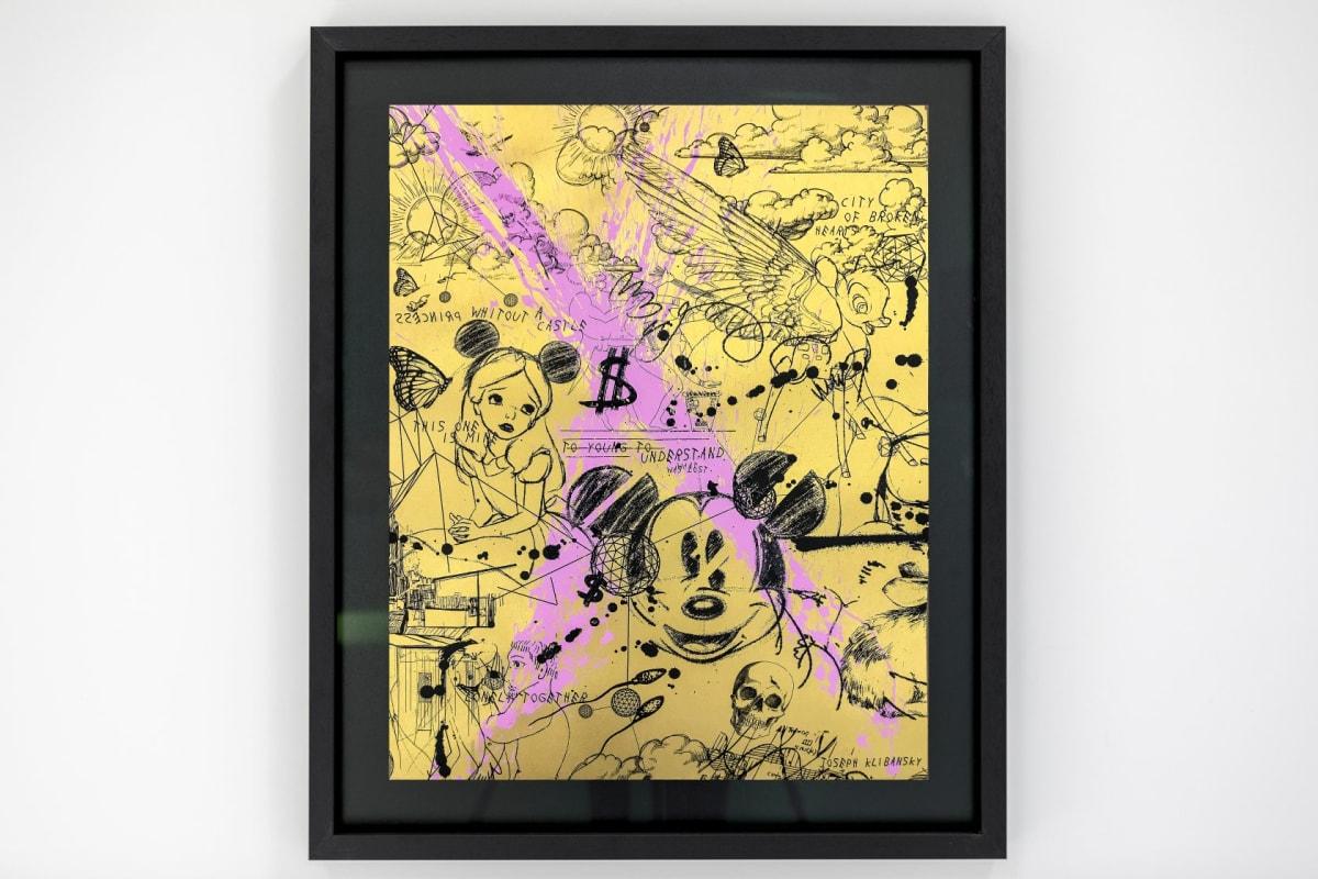 Joseph Klibansky, Caught Up In A Dream (Edition Black/Yellow, Pastel Pink Splash), 2019