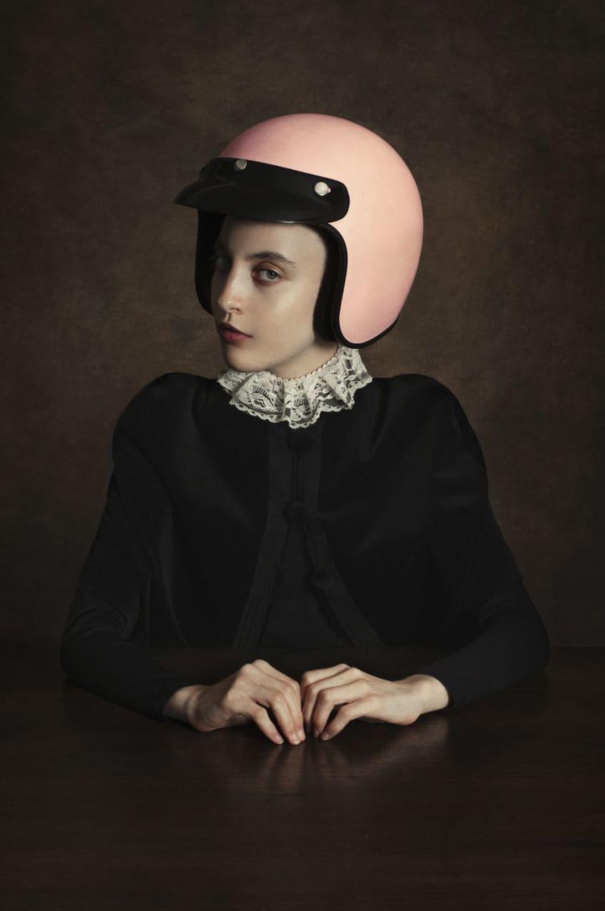 Romina Ressia, Girl wearing a Helmet, 2018