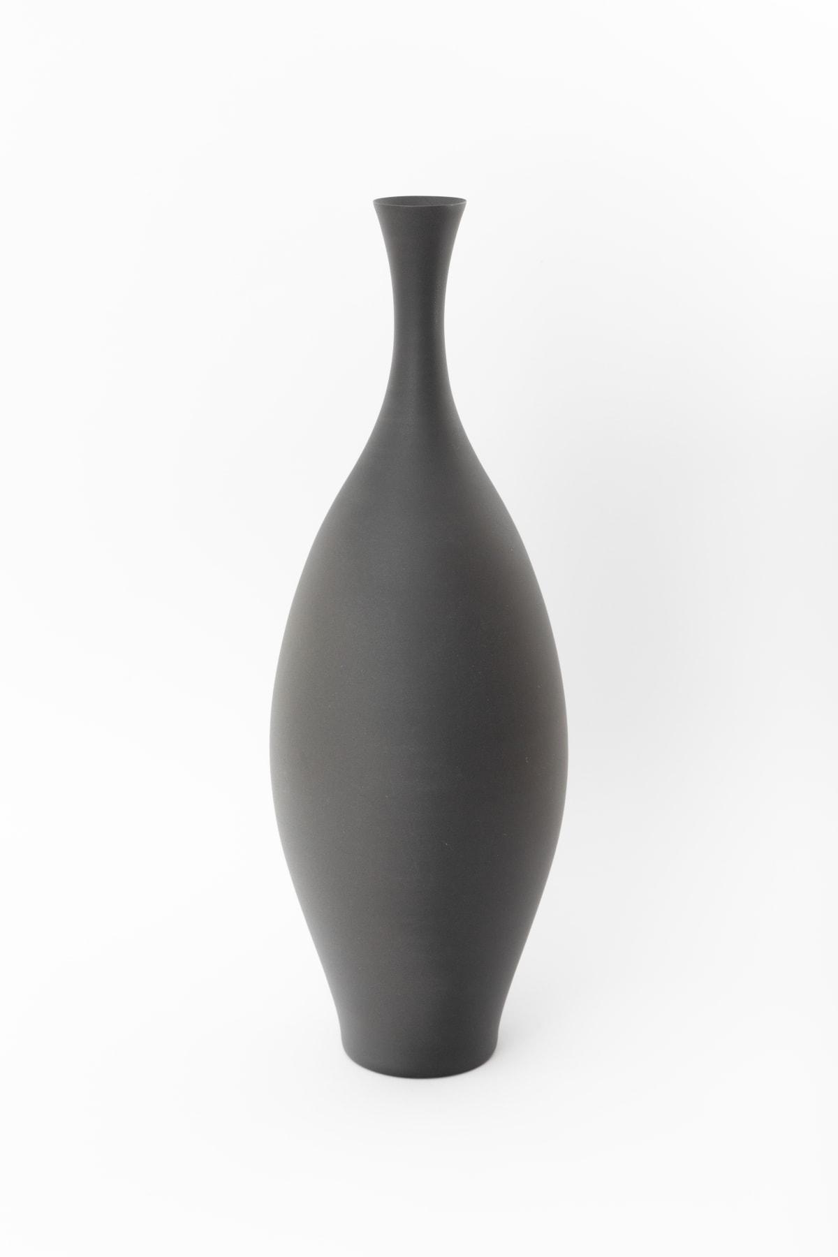 """Flower vase """"Rice Husk"""" - 鶴首花器「籾柄」, 2018"""