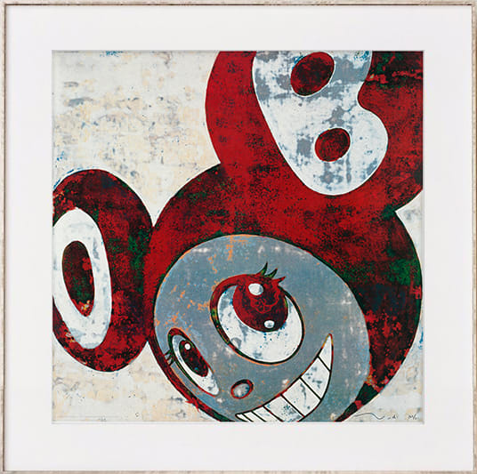 Takashi Murakami, And then, and then, and then (Rust Red 1), 2006