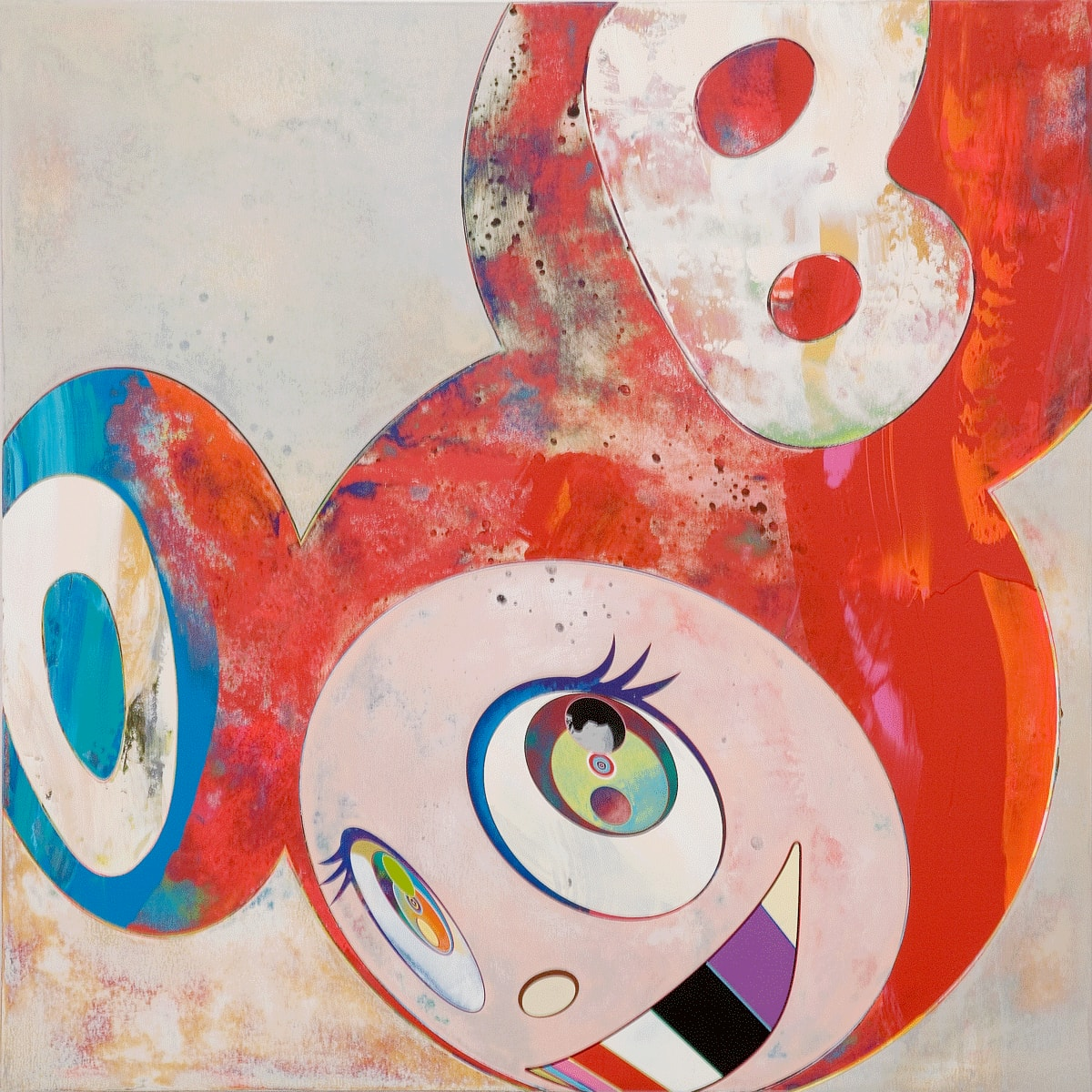 Takashi Murakami, And then, and then , and then (Abstraktes Bild), 2006