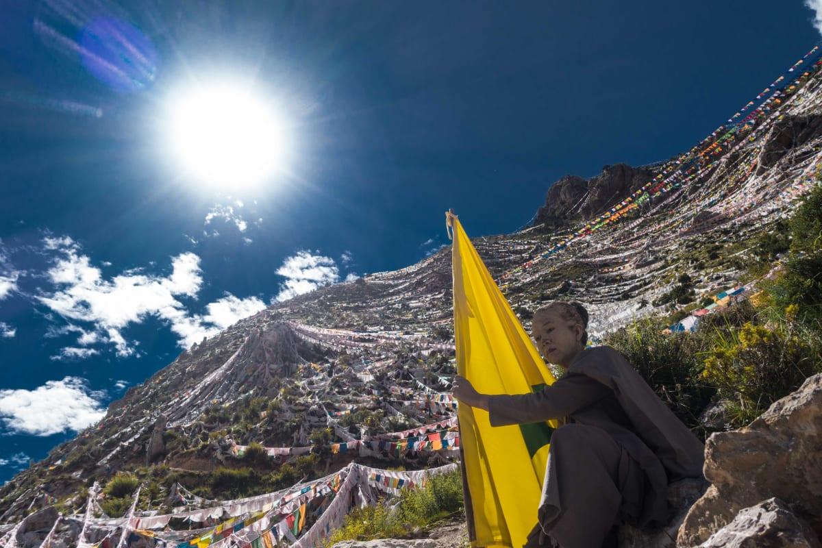 Arahmaiani, Shadow of the Past: Tibet Version I, 2018