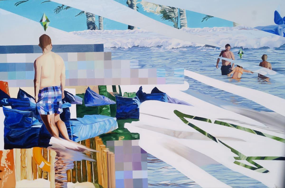 Retreat, 2021 oil on canvas