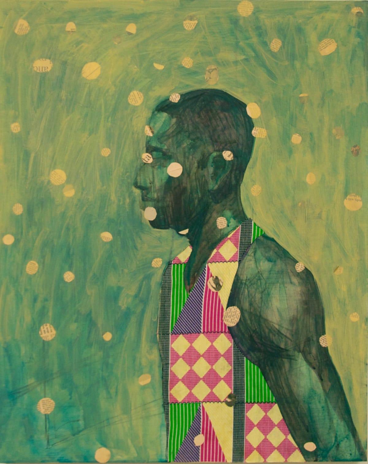 Derek Fordjour, Conspicuous Arrangement, 2015