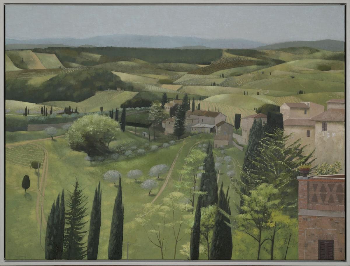 Landscape in Spring. San Gimignano, 2020