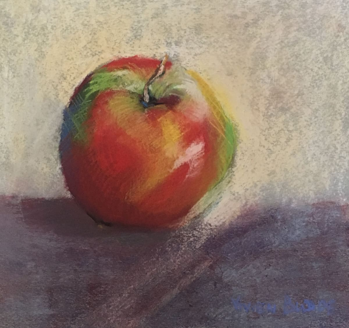 Vivien Budge , Pastel apple, 2018