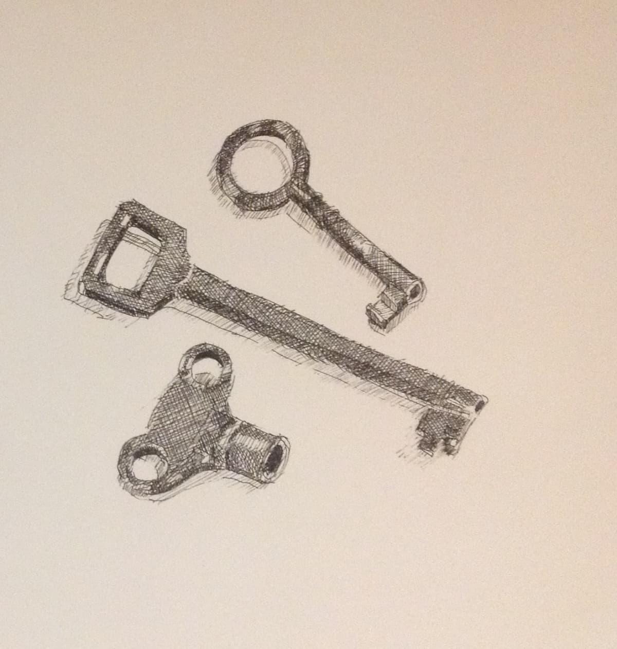 Vivien Budge , Old keys, 2018