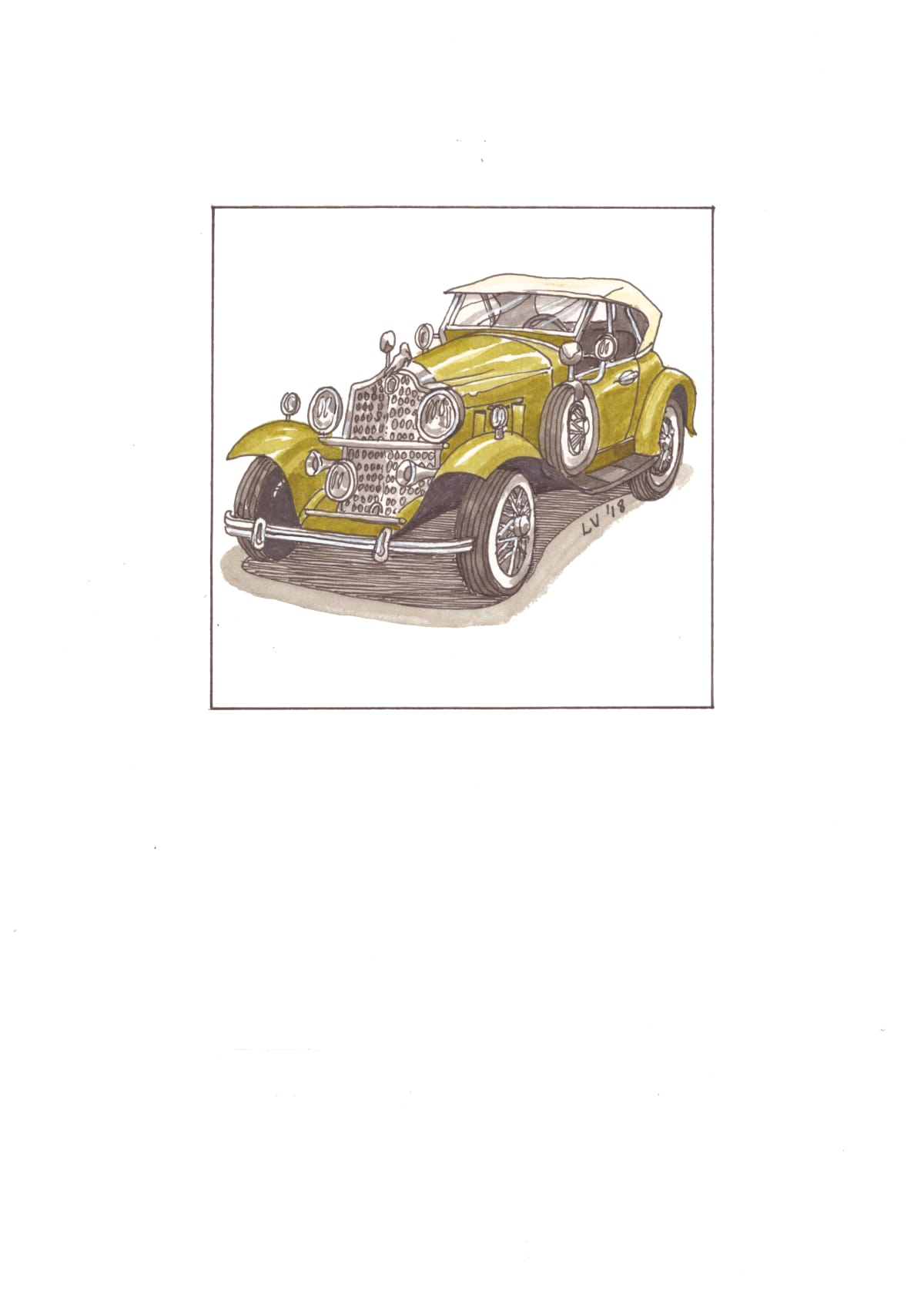 Leonora Venter, 1930's Packard Roadster, 2018