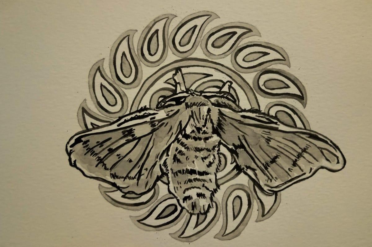 Loreal Vos, Bombyx Mori moth II, 2018