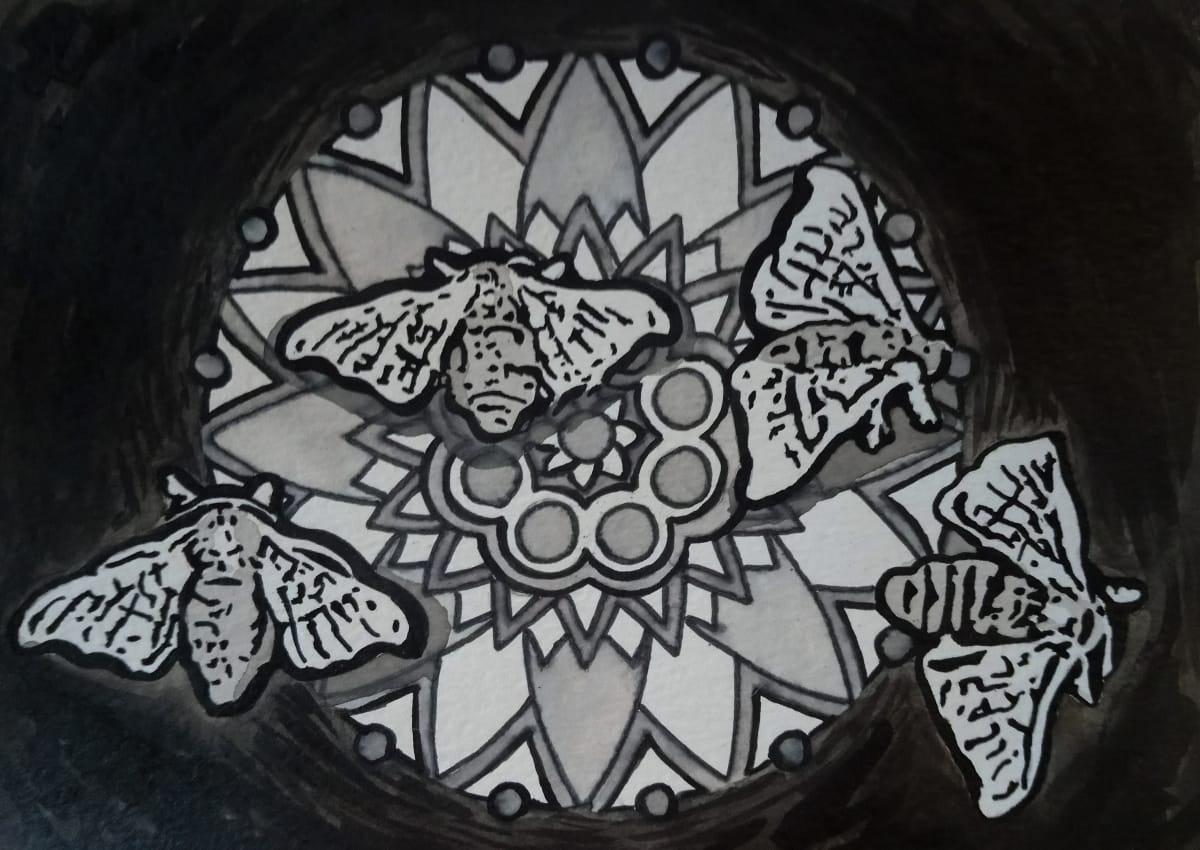 Loreal Vos, Bombyx Mori moth VI, 2018
