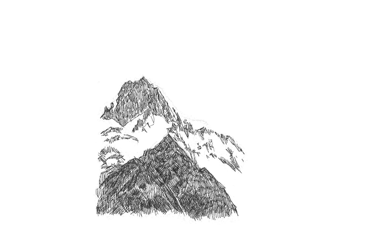 Kleanthi Tselentis, Mountainscape 02, 2018