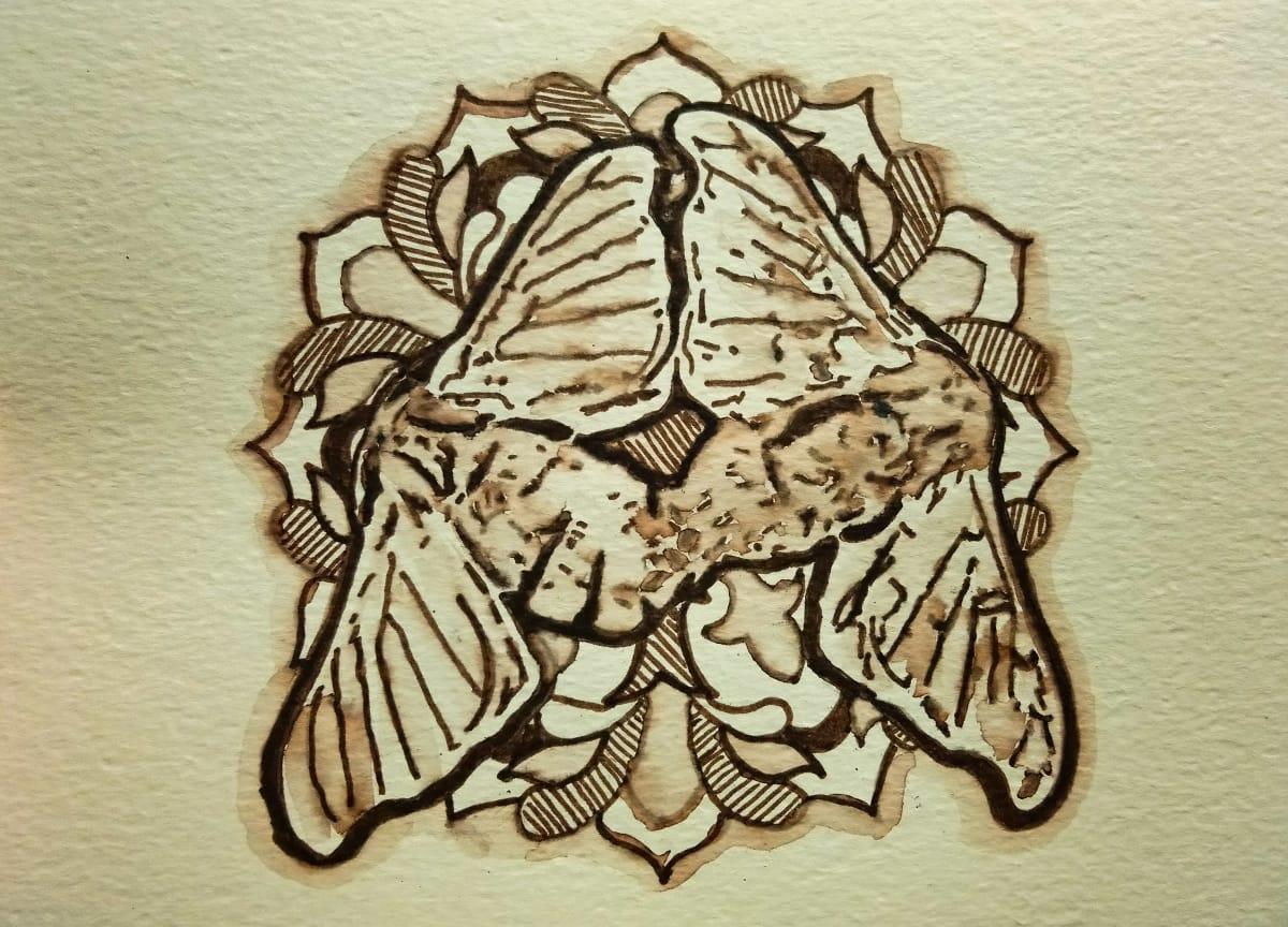 Loreal Vos, Bombyx Mori moth I, 2018