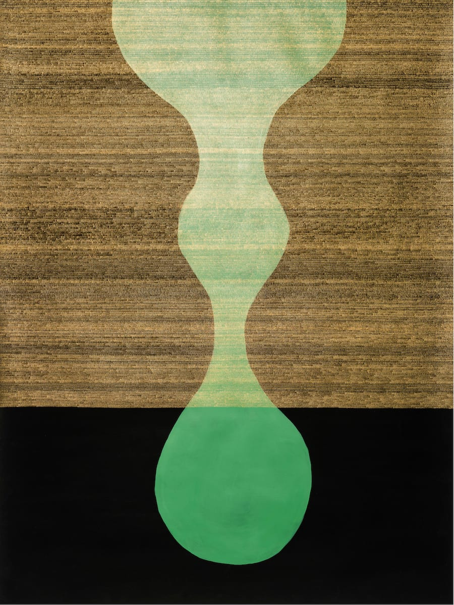 Kit Warren, Veiled Dangle (green), 2019