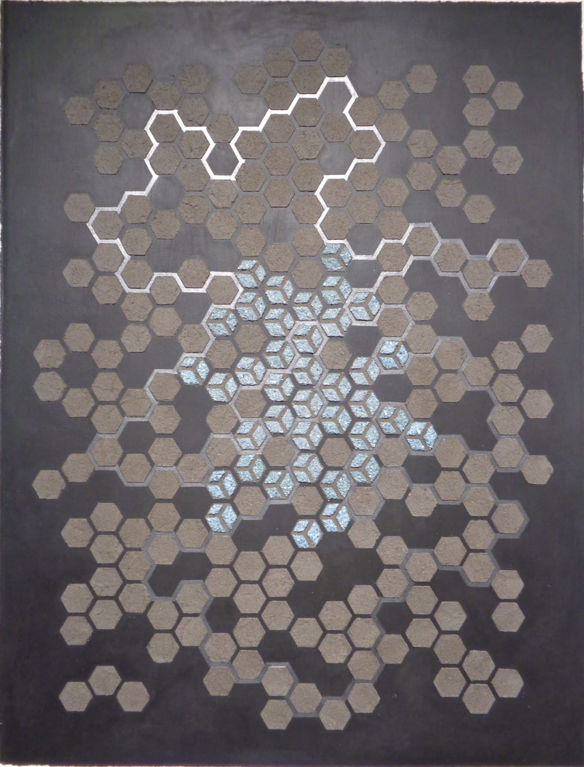 Eleanor White, Emu Ash Honeycomb Black Paper, 2018