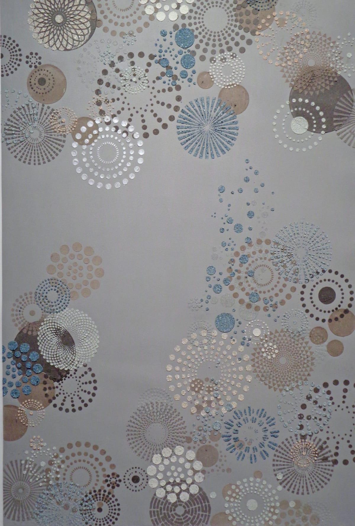 Eleanor White, Grey Multi Dot (large), 2018