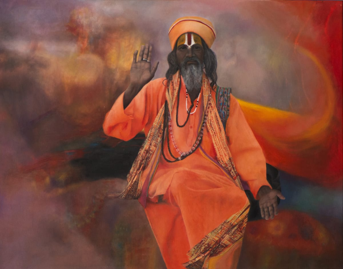 Domenico Pasqua, The Holy Man in orange, 2019