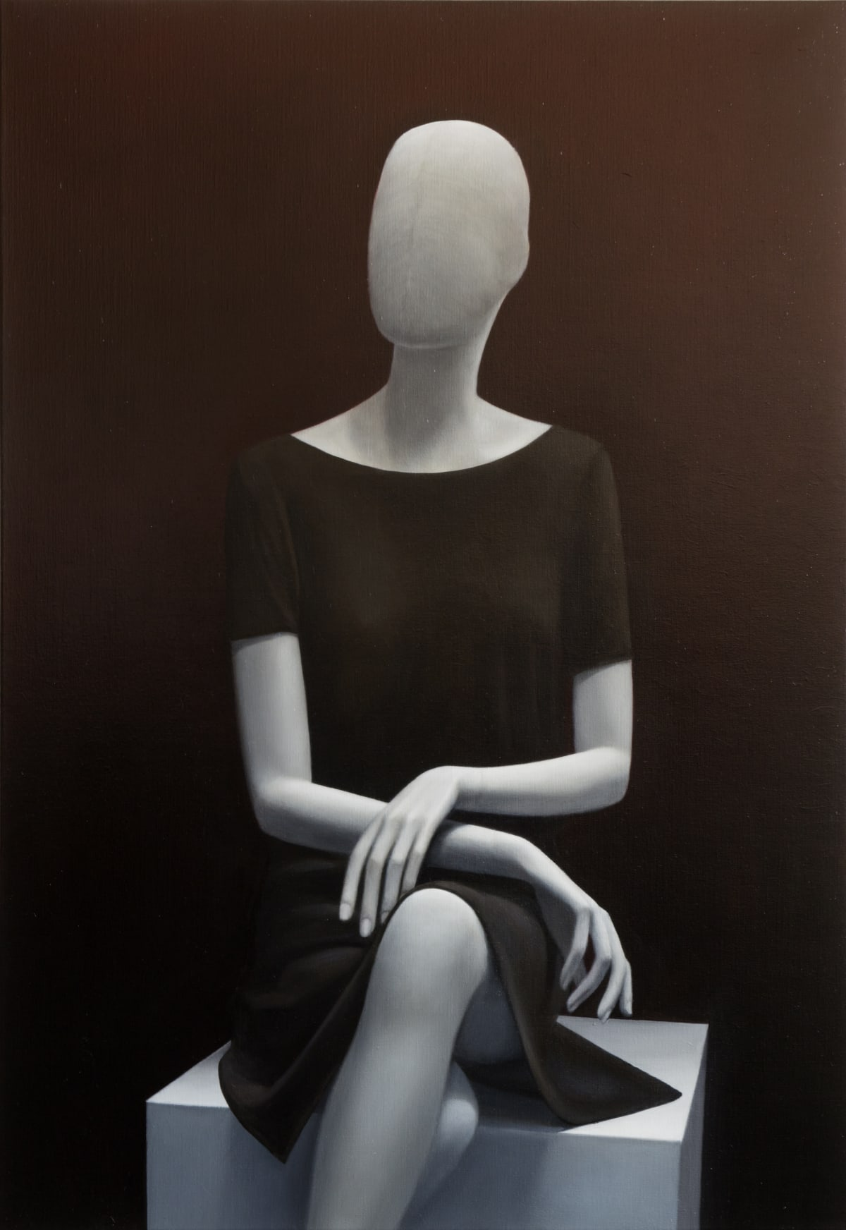 ARNOUT KILLIAN Sitting Mannequin, 2017 oil on canvas 140 x 100 cm signed and dated