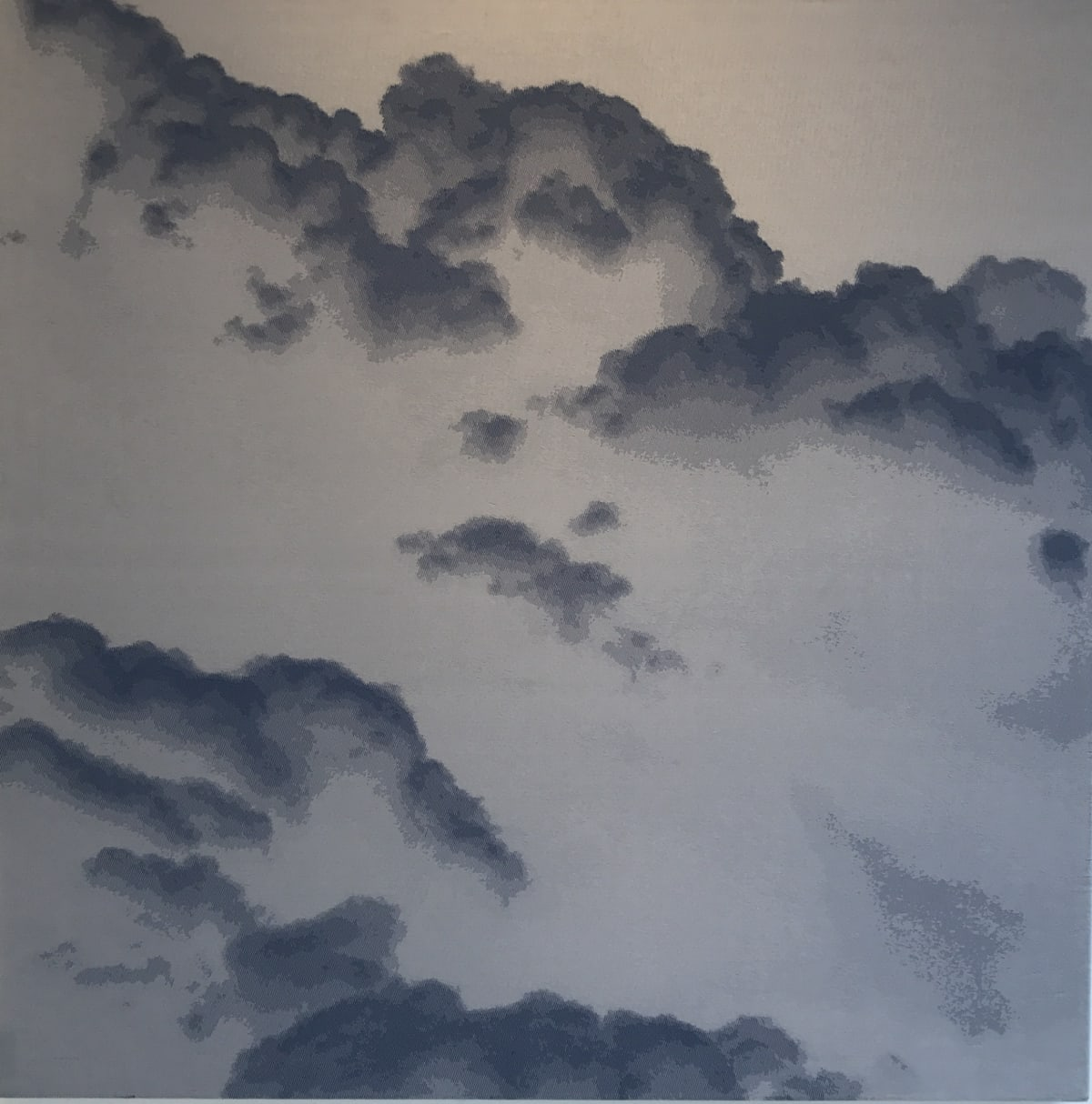 SONJA WEBER Sky Moments 853, 2007 Jacquard fabric 120 x 120 cm 47 1/2 x 47 1/2 in Signed and dated