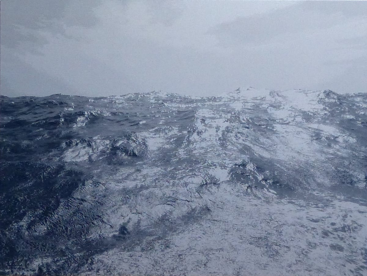 SONJA WEBER 1835 Water, 2020 jacquard 135 x 180cm signed and dated