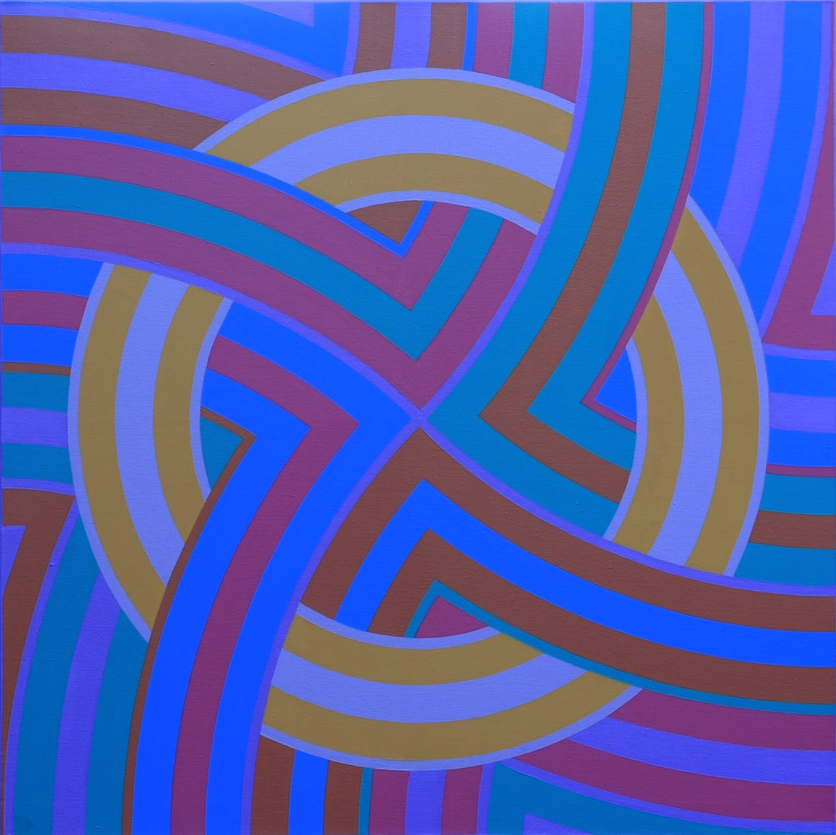 ROY OSBORNE Circular Forms XI (Compass series), 2008-10 oil on canvas 76 x 76 cm 30 x 30 in signed and dated