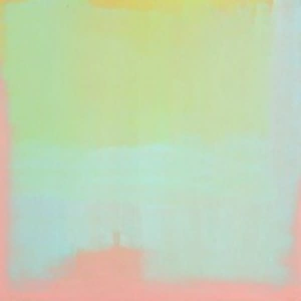 LYDIA MAMMES Lime/Turquoise/Pink acrylic on board 100 x 100 cm 39 1/2 x 39 1/2 in signed and dated