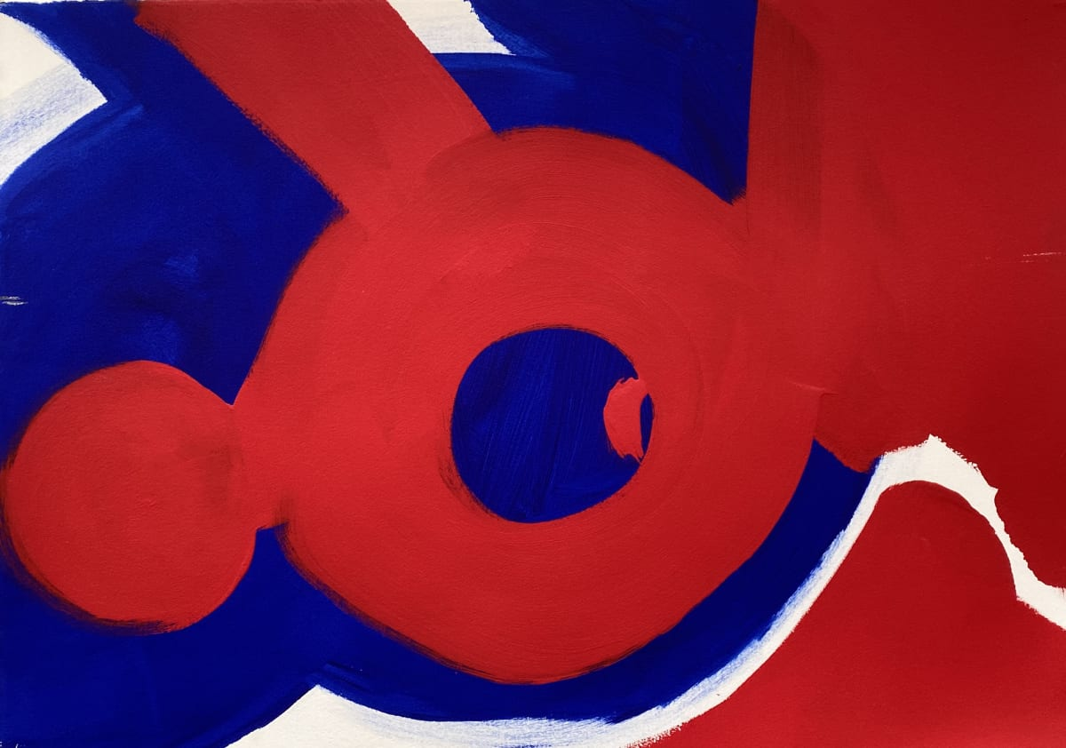 Terence Donovan Abstract 21 acrylic on paper 77 x 110cm