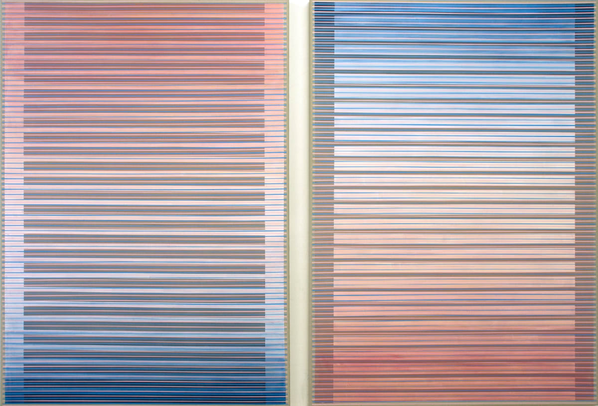 Daniel Mullen Emergence 1 and 2 acrylic on canvas 170 x 120 cm 66 7/8 x 47 1/4 in