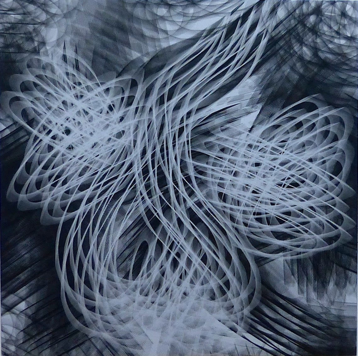SONJA WEBER Traces, 2019 jacquard 175 x 175cm signed and dated
