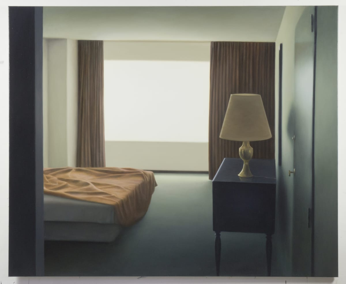 ARNOUT KILLIAN Hotel Room, 1998 oil on canvas 165 x 200cm signed and dated