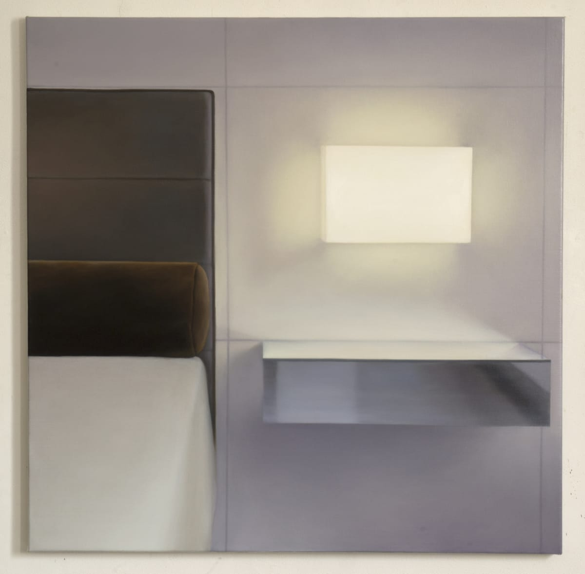 ARNOUT KILLIAN Bedside Lamp, 2018 oil on canvas 95 x 95 cm signed and dated