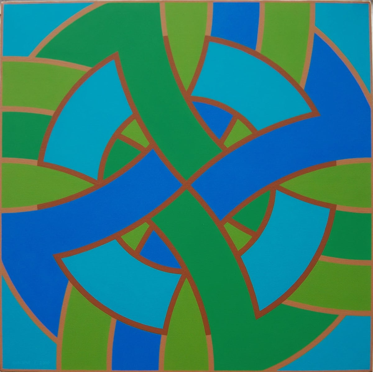 ROY OSBORNE Circular Forms (Compass series), 2009 oil on canvas 76 x 76 cm 30 x 30 in signed and dated