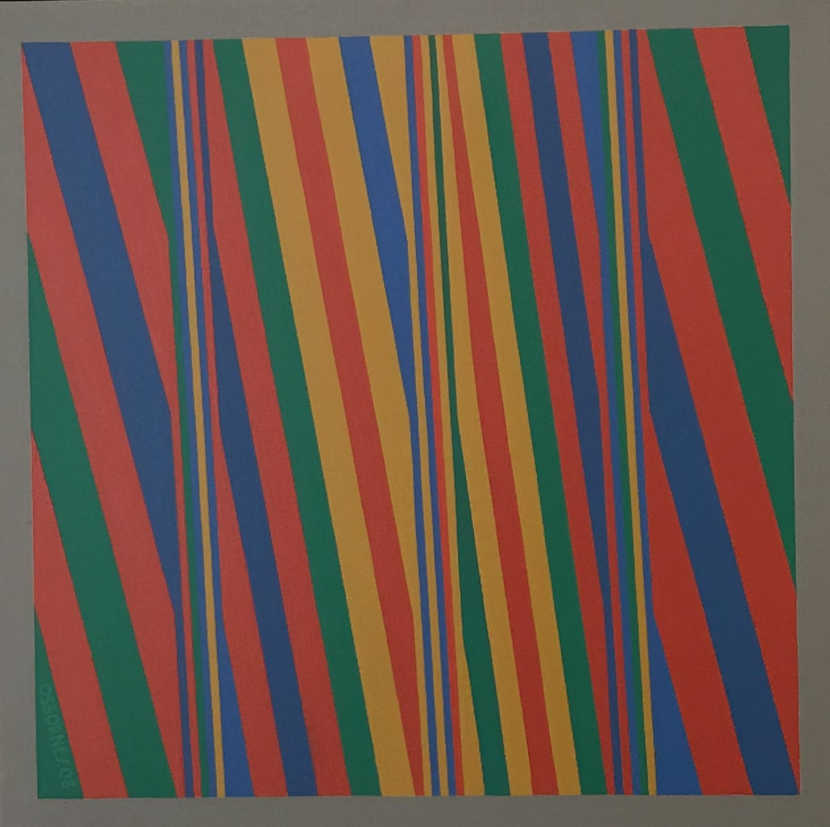 ROY OSBORNE Bends 43, 2008 oil on canvas 51 x 51 cm 20 1/2 x 20 1/2 in signed and dated