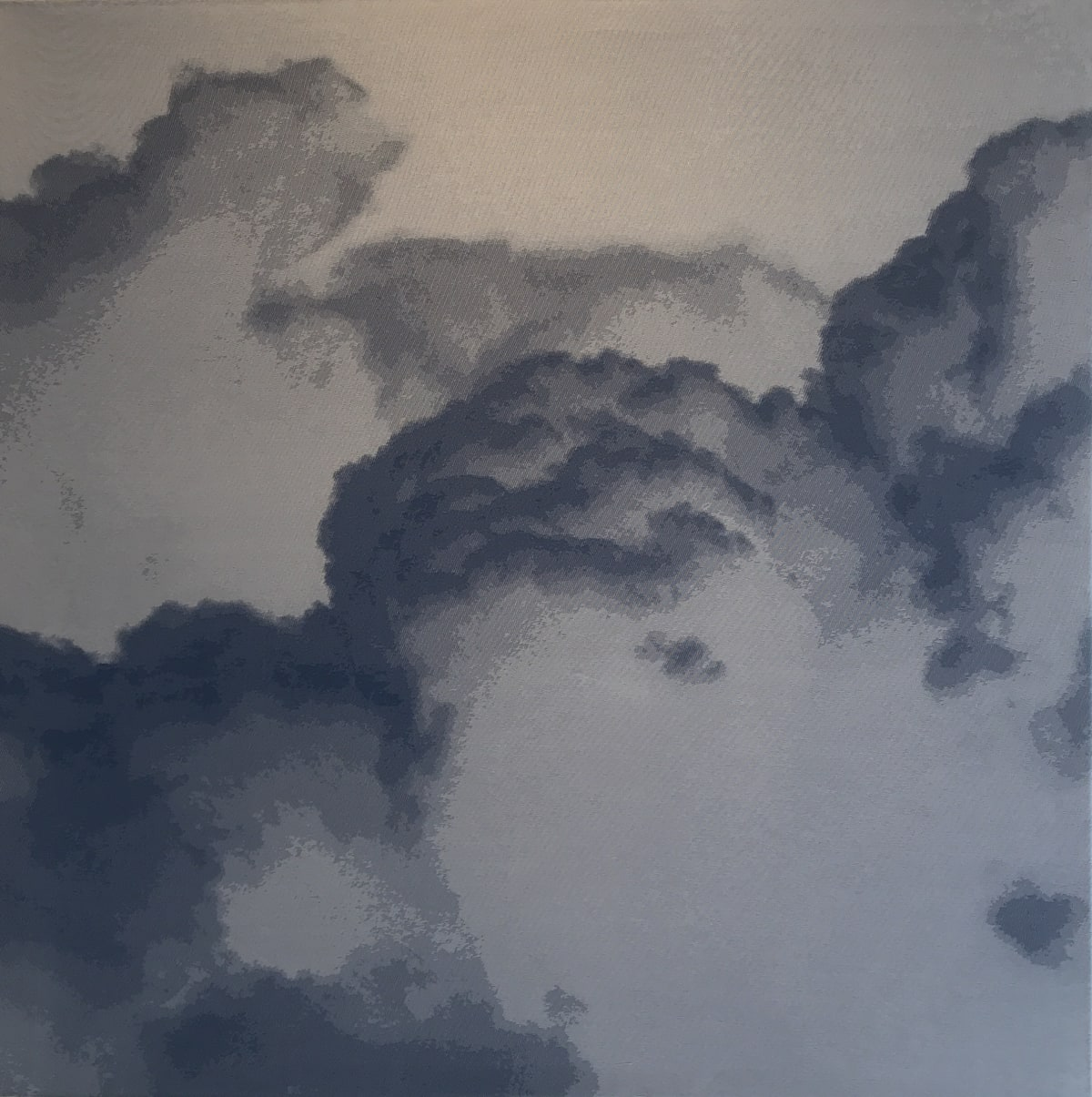 SONJA WEBER Sky Moments 852, 2007 Jacquard fabric 120 x 120 cm 47 1/2 x 47 1/2 in Signed and dated