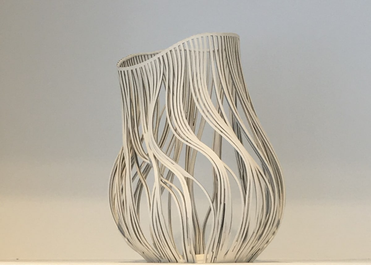 Lauren Nauman Lines - Striped, 2017 Porcelain 30 x 25 cm 11 3/4 x 9 7/8 in