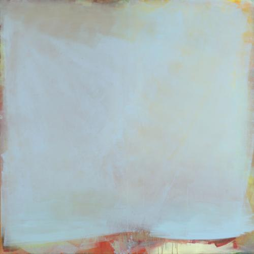 LYDIA MAMMES Pale Blue acrylic on canvas 180 x 180 cm 71 x 71 in signed and dated