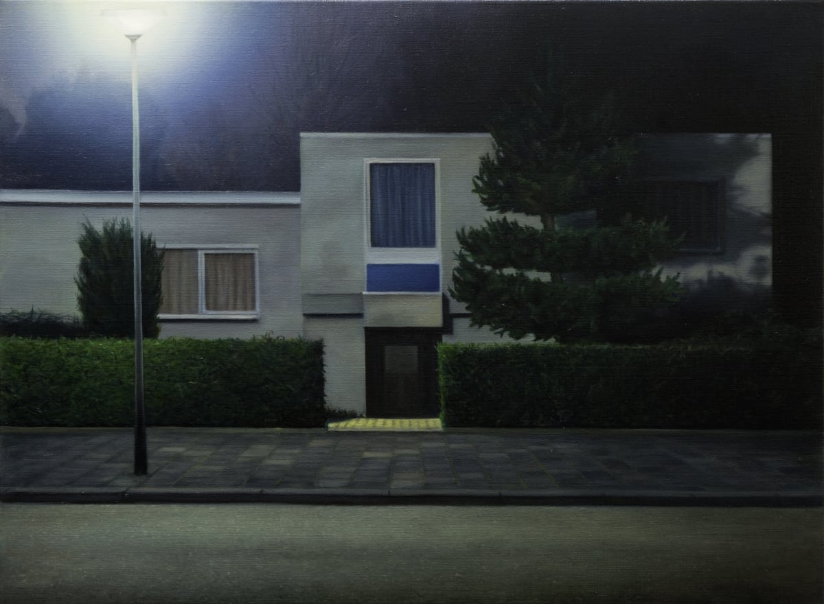 ARNOUT KILLIAN Bungalow at Night - 2 Oil on Canvas 125 x 85 cm 49 1/4 x 33 1/2 in