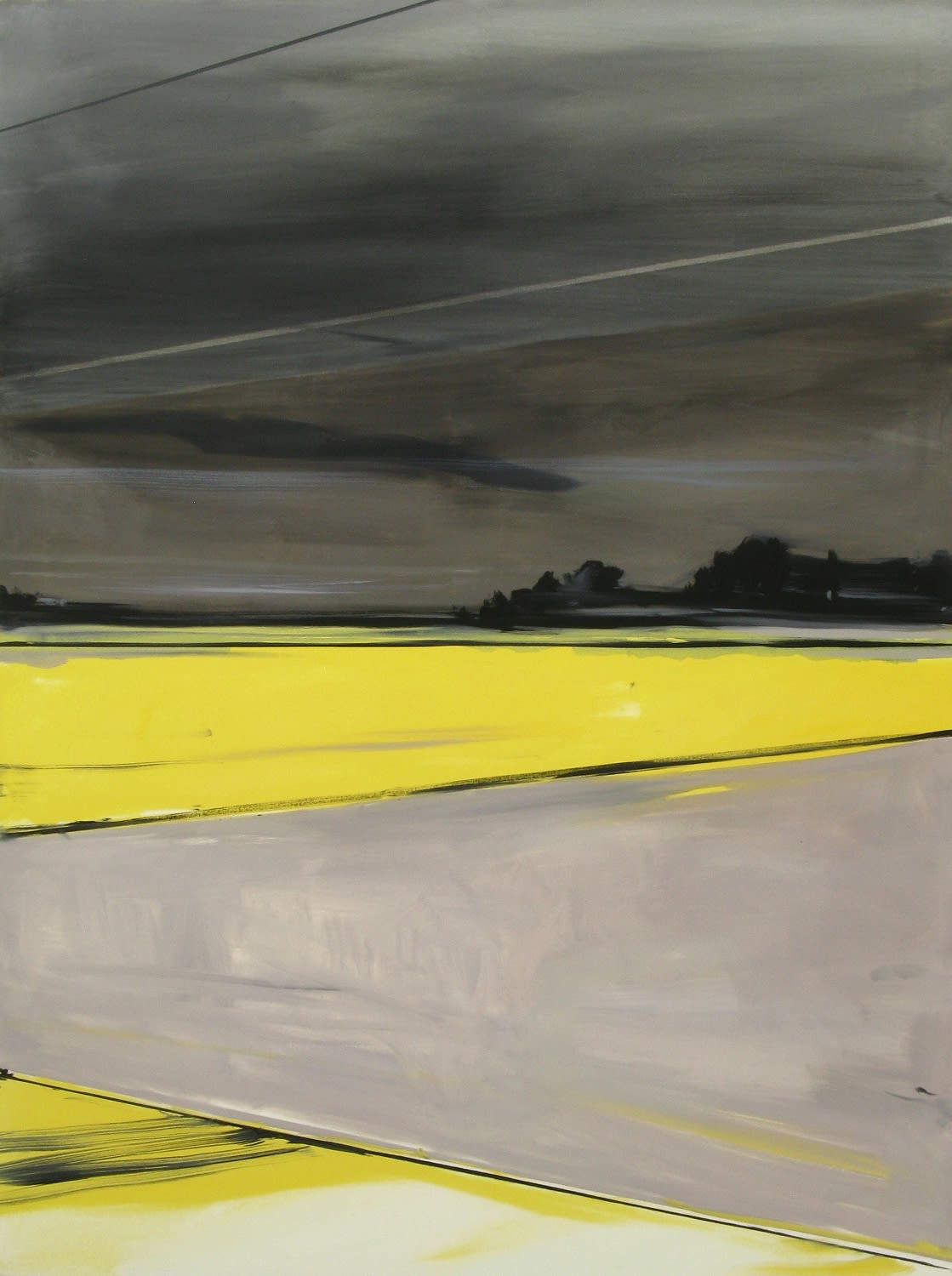 Matthieu van Riel Dutch Landscape, 2011 oil canvas 160 x 120 cm 63 x 47 1/2 in