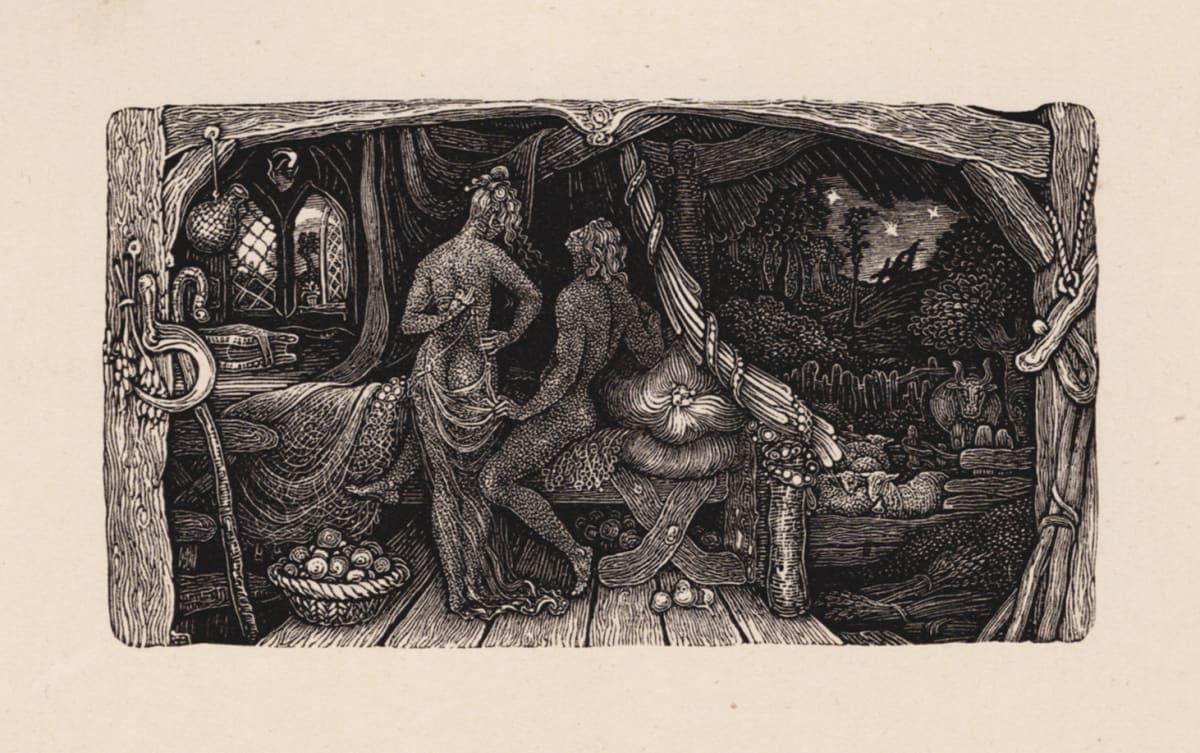 Edward Calvert The Chamber Idyll, 1831 (published 1893) Wood Engraving Image Size: 4.2 x 7.6 cm Edition of 350