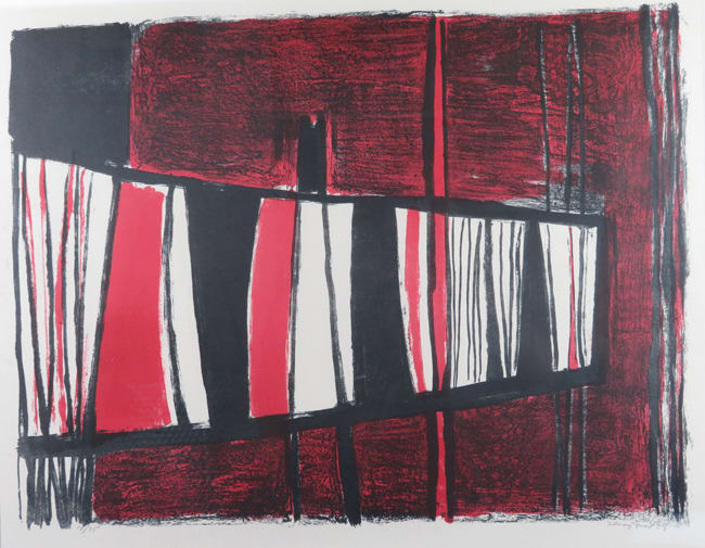 Terry Frost Composition in Red and Black, 1959 Colour lithograph 40 x 53 cm edition of 25 plus 1 PP and at least 2 artist's proofs