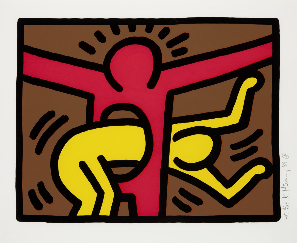 Keith Haring Pop Shop IV, 1989 Screenprint in colours, on wove paper 34.3 x 41.9 cm Edition of 200