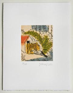 Ramiro Fernandez Saus Tiger, 2016 Etching 36 x 37 cm Edition of 25