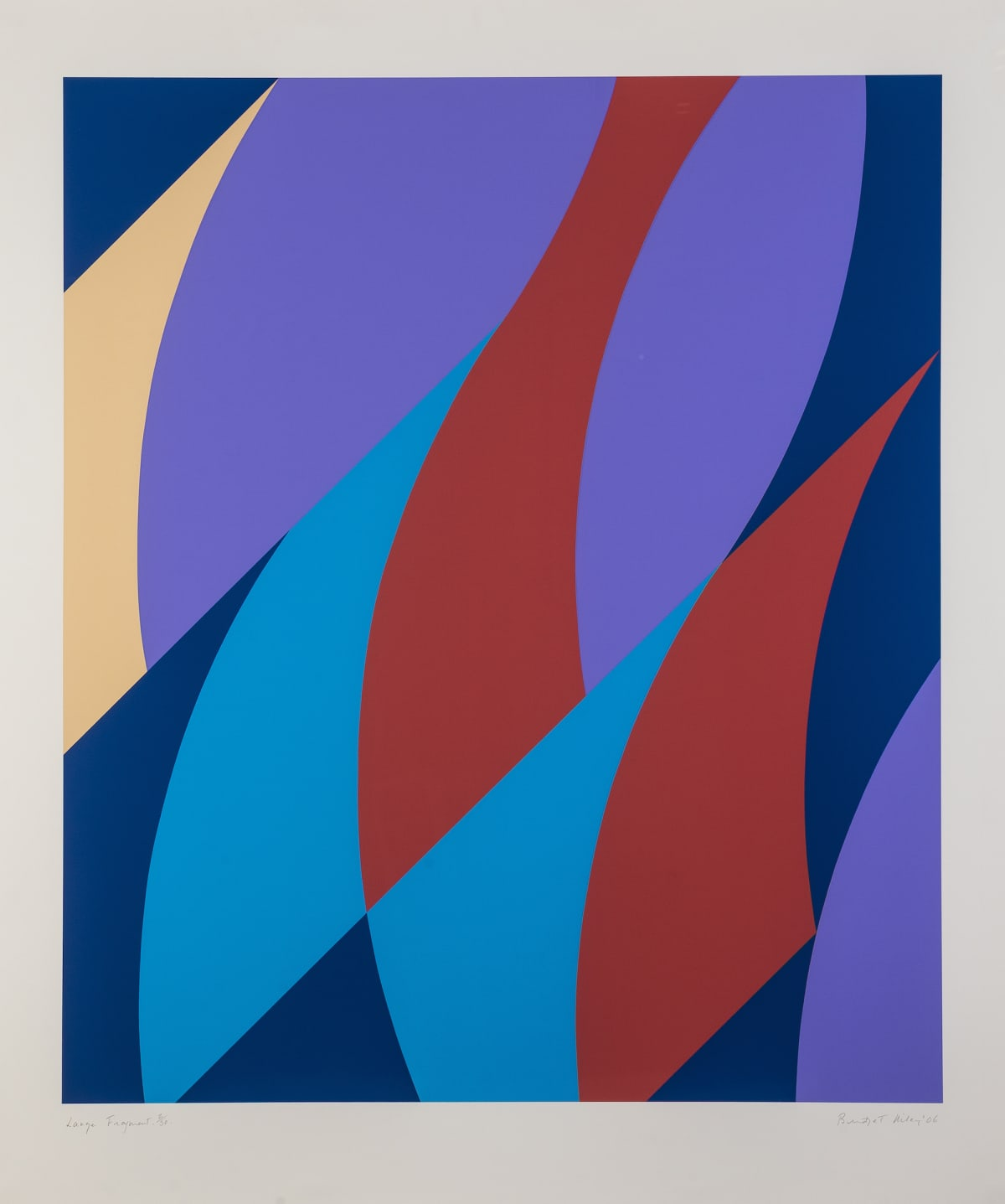 Bridget Riley Large Fragment, 2006 Screenprint in colours, on wove 128.3 x 109.2 cm Edition of 50