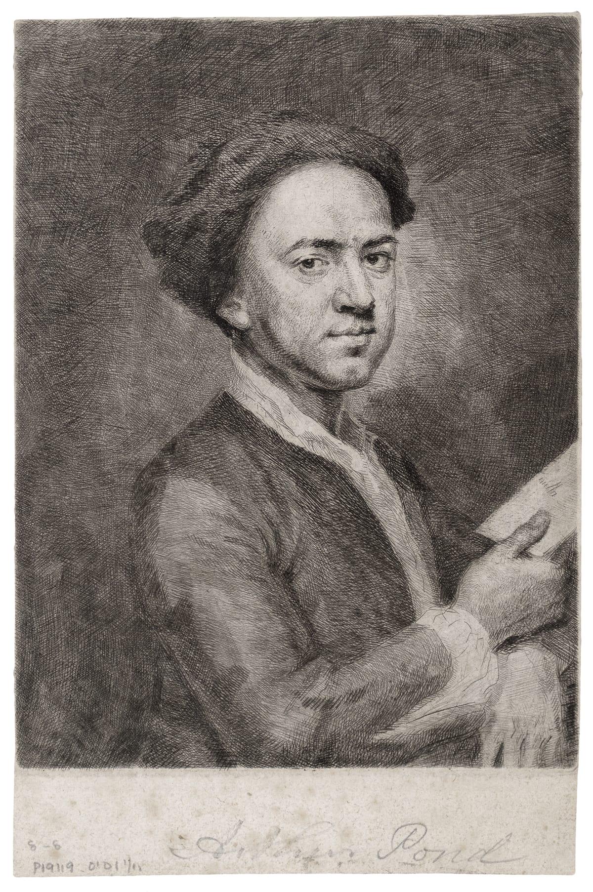 Arthur Pond Self-portrait, 1739 Etching. Size of sheet: 21.2 x 14 cm