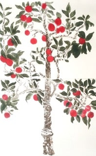 Cliona Doyle Apple Tree, 2005 Etching plate: 108 x 98 cm sheet: 170 x 107 cm Edition of 50