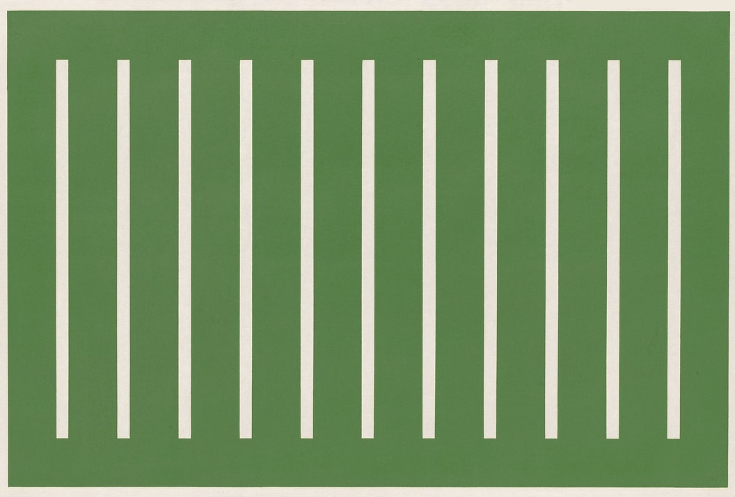 Donald Judd Untitled, 1991 Woodcut printed in oxide of chromium (green), on Japanese Mitsumata laid paper 67.2 x 99.0 cm One of four printer's proofs aside from the edition of 25