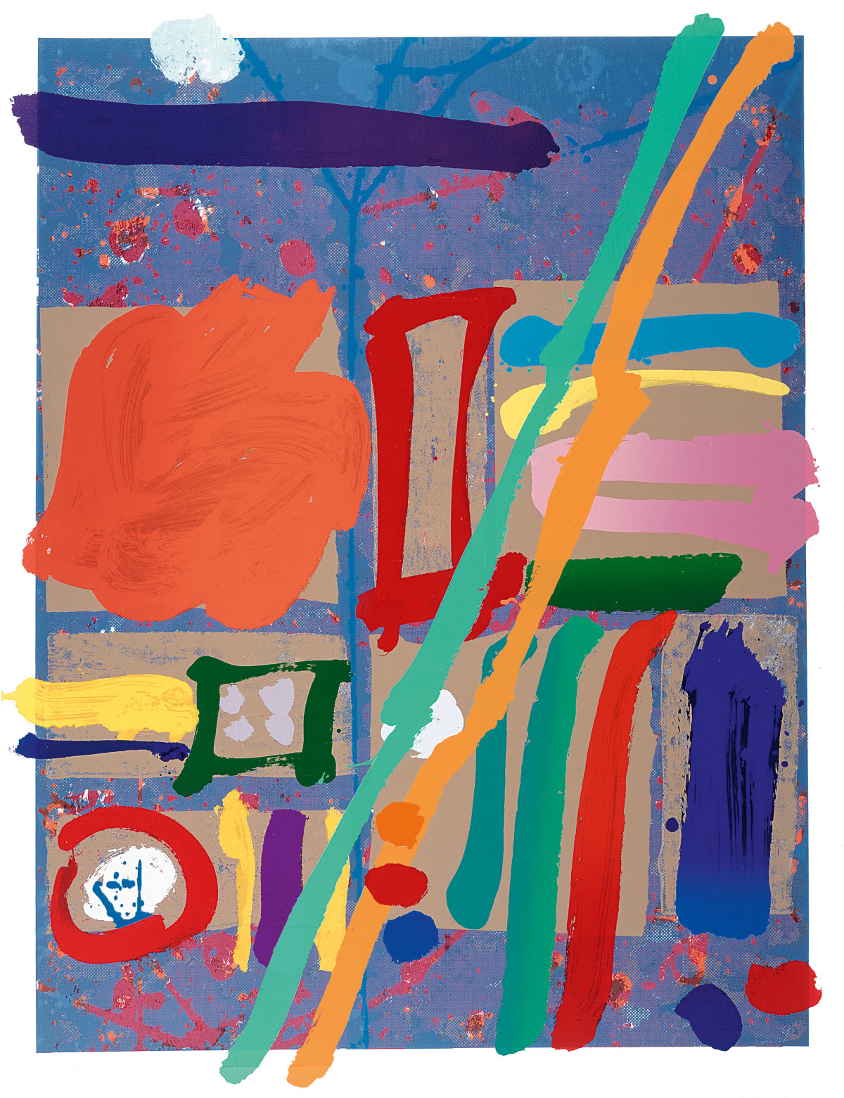 Albert Irvin Kepler I, 1998 screenprint with woodblock 146 x 113cm edition of 125