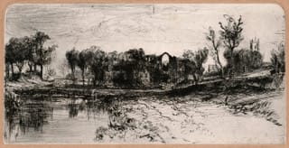 Revd. Edward Thomas Daniell Castle Acre, Norfolk (Thistlethwaite 43 ii/ii)., c 1832-33 Original etching with drypoint