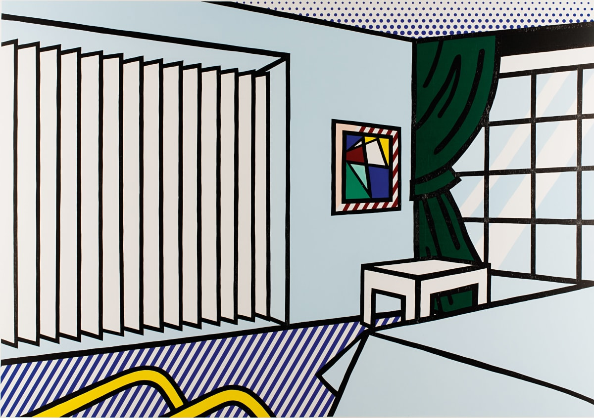 Roy Lichtenstein Bedroom ( from Interior Series), 1990 Woodcut and Screenprint 199.4 x 144.2 cm edition of 60
