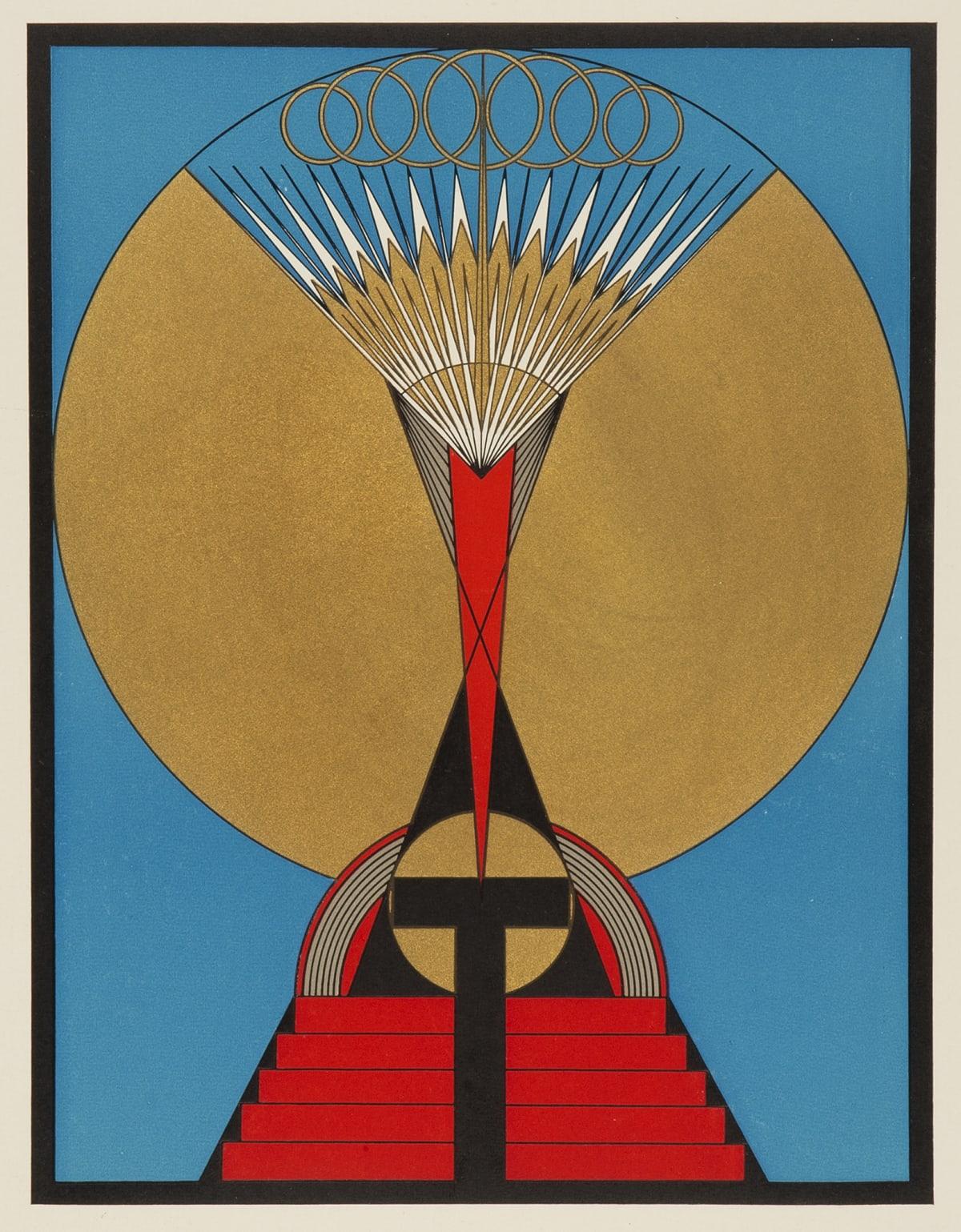 Olga Fröbe-Kapteyn The Light of the Soul, c.1930 Screenprint Paper Size: 49.5 x 36 cm Edition size unknown
