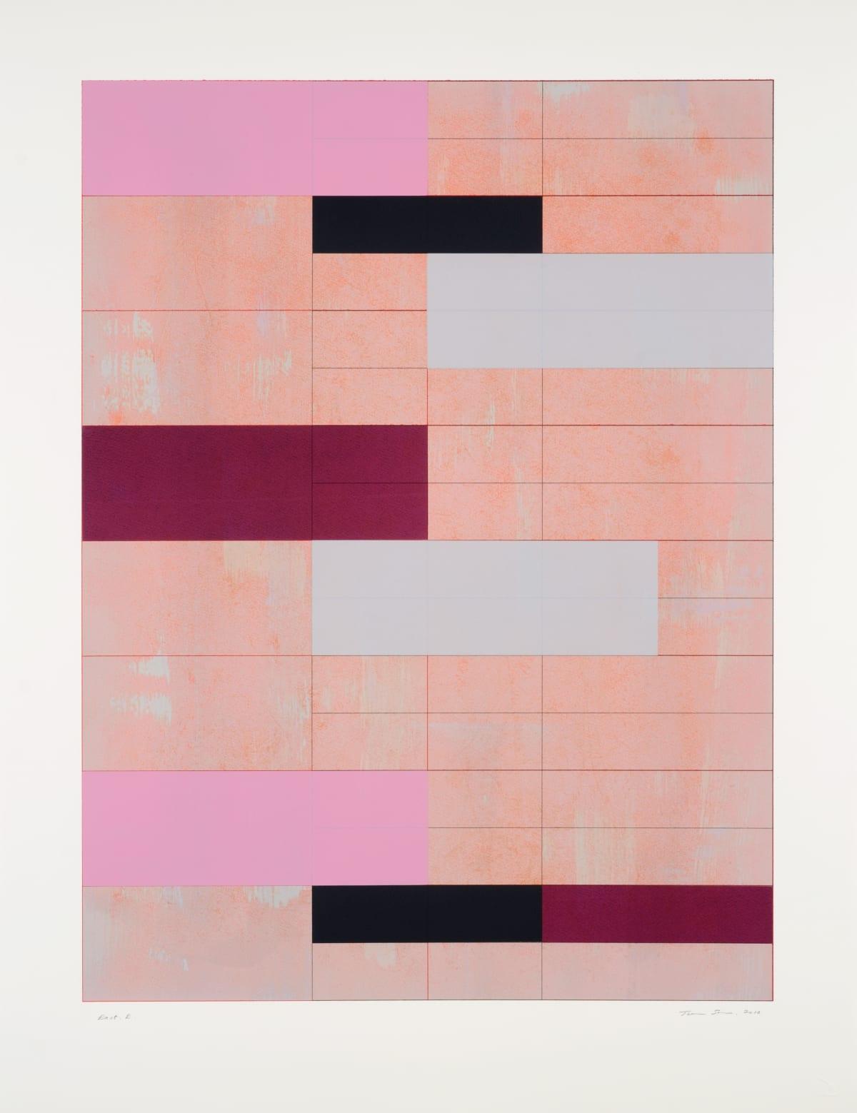 Trevor Sutton b.1948 East E, 2010 Monoprint Image: 71 x 53.5 cm Paper: 86.5 x 66 cm